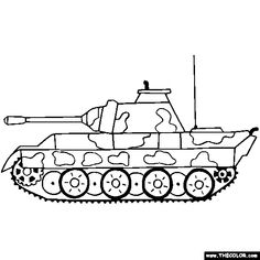 panzer panther tank coloring page color tanks