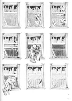 Chris Ware, Composition, Will Eisner, Alternative Comics, Bd Comics, Comic Page, Novels, This Book, Black And White