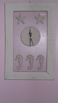 This starfish and seahorse clock was a housewarming gift from our daughter, 2002.