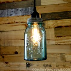 mason jar pendant lighting. vintage 1 quart ball mason jar pendant light lighting