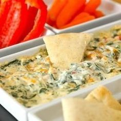 Four Cheese Spinach Dip - anything that has 4 cheeses mixed with something good for you is worth making!