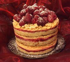 Tort cu zmeura, lamaie si vanilie