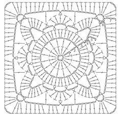 bloem vierkant haken - Google zoeken