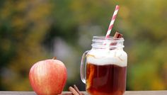Tired of spiking your pumpkin spice latte? Cozy up to one of these boozy apple cider concoctions instead. From wine friendly recipes to decadent dessert drinks – you'll definitely want to sip on a . Best Apple Cider, Spiked Apple Cider, Dessert Drinks, Fun Drinks, Beverages, Healthy Drinks, Healthy Food, Natural Energy Drinks, Raw Coconut