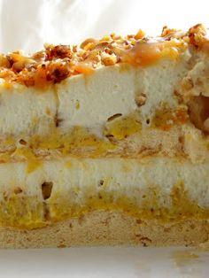 Torta od badema i karamela. Dessert Cake Recipes, Desserts, Opera Cake, Bread Dough Recipe, Torte Recipe, Diy Food, Cheesecake, Cooking Recipes, Cookies