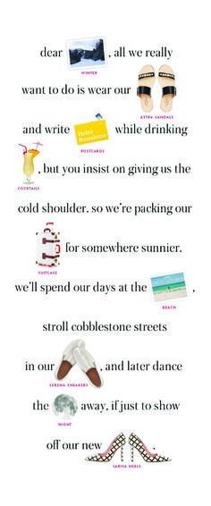 Kate Spade Summer 2015 mailer. All I want is summer!