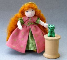 The Princess and the Frog Miniature Art Dolls by TheFairiesNest