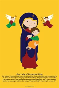 Happy Saints Mother Mary Posters: Happy Saints Our Lady of Perpetual Help Poster, $5.00 from MagCloud