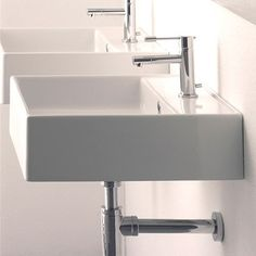 385 Nameeks Art. 8031/R Scarabeo Teorema Washbasin Wall Mount Bathroom Sink, White at ATG Stores