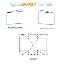 popfotoburst half fold card