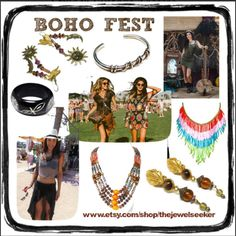 BOHO FEST:  Accenting Your BOHO Style w Vintage Accessories  We've got just the right #Vintage #Jewelry to accent your #BOHOSTYLE!  Get ready for the Spring and Summer #Festivals! #Coachella & #burningman   www.etsy.come/shop/thejewelseeker