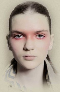 """Way Bandy talked about this blush-shaded eye-to-temple wrap in his 1981 book, """"styling your face"""". he talked about it giving a """"lovely feverish"""" look."""