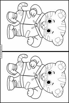 Daniel Tiger Spot forskjellene å skrive ut 10 Printable Activities For Kids, Fun Activities, Spot The Difference Printable, Daniel Tiger, Different, Games For Kids, Printer, Printables, Kids Rugs
