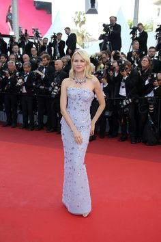 Naomi Watts in Armani attends the Cafe Society premiere during the Festival of Cannes 2016