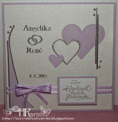 "Karins Kreativstube: Hochzeit ""Angelika & René"" flieder Lilac, Cards, Creative"
