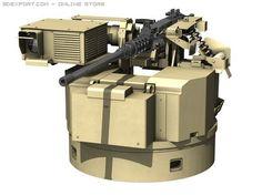 3D Model Remote weapon station RWS Browning M2 c4d, obj, 3ds, fbx, ma, lwo 29127