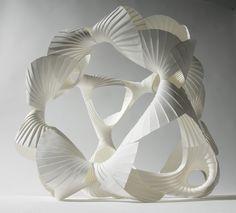 Experimental modular form in pleated paper. www.richardsweeney.co.uk