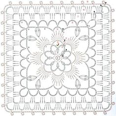 2012 work in progress: pattern crochet Motif Mandala Crochet, Crochet Mandala Pattern, Crochet Motifs, Granny Square Crochet Pattern, Crochet Diagram, Crochet Chart, Crochet Squares, Crochet Stitches, Crochet Patterns