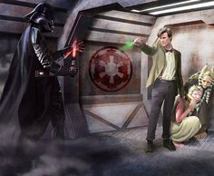 Geek Art: Darth Vader vs. The Doctor [Pic]