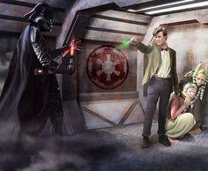 Geek Art: Darth Vader vs. The Doctor [Pic]