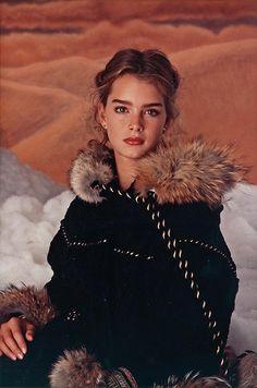 Photo of Brooke Shields Modeling Coat for fans of Brooke Shields. Beautiful