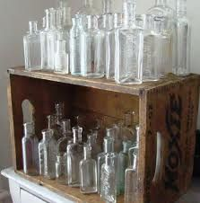 Glass bottles. Love these!