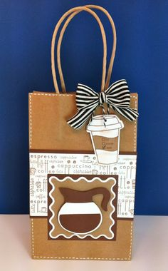 Cricut Coffee Gift Bag with Love You a Latte