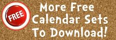 Free Calendar Bulletin Board Display Sets For Teachers To Download.