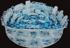De enige echte 'Almere Op Schaal' is vanaf 2001 gemaakt door Rola Hengstman  In opdracht van de gemeente Almere heb ik een serie van 18 unieke schalen gemaakt als exclusief relatie geschenk.