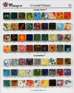 Mayco Crystal & Jungle Gem Chip Board