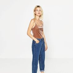 This velvet bodysuit is just only of the 5 trends for Fall that Zara has endorsed. Check out the rest and get your style game ready for Fall.  #style #ootd #zara #trends #fashion #women #fashiontrends #fall #streetstyle #ballet #athleisure #denim #shine #