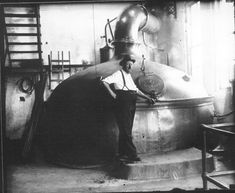 Conrad Greisser, Brew Master at Reisch Brewery. This picture was taken before Prohibition. Courtesy of www.reischbrewing.com