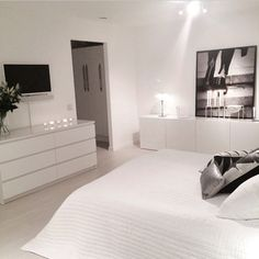 40 Top IKEA Bedroom Design 2017 Inspirationsvhomez Page 14 White Bedroom Set, Bedroom Sets, Home Bedroom, Bedroom Decor, Master Bedroom, Trendy Bedroom, Master Suite, Modern Bedrooms, White Rooms
