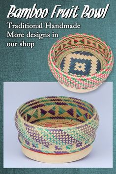 Traditional hand woven bamboo. High quality craft in multi-color, the simple design highlights the beauty. Will also look great if used as planter. Shopping World, Online Shopping Stores, Shopping Mall, Oriental Decor, Asian Decor, Advertise Your Business, Dining Decor, Kitchen Dining, Basket Decoration