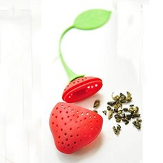 TOP-Ishop Tea Infuser Set of 2 Cute Silicone Tea Strainers by Simple To Brew, strawberry and lemon Tea Infuser for Loose Leaf Tea -- This is an Amazon Associate's Pin. Click this Amazon Affiliate link for more details.