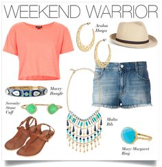 This easy, breezy weekend look will take you from errands to the beach with style | Stella & Dot.   Shop these accessories at www.stelladot.com/nicolecordova