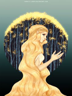 """Lady of the Golden Woods by francis-john.deviantart.com on @DeviantArt - Galadriel from """"Lord of the Rings"""""""