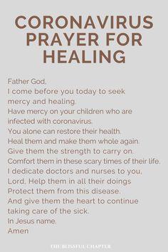 Prayer Against Coronavirus Prayer Times, Prayer Scriptures, Bible Prayers, Faith Prayer, Catholic Prayers, God Prayer, Prayer Quotes, Bible Verses Quotes, Faith Quotes