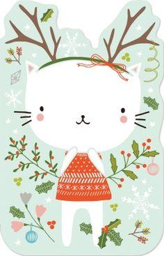 Cat enclosure cards Madison Park Greetings x Flora Waycott
