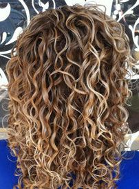 curly - Nichole (Nicole receives a base touch up to lift her natural level about 2 shades lighter and a partial highlight and sometimes lowlights for a beautiful dimensional blonde effect. ....)