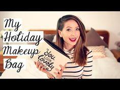 My Holiday Makeup Bag   Zoella - YouTube