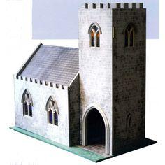 Dolls House 1:12 Scale Flat Pack Church Chapel MDF Wood Kit