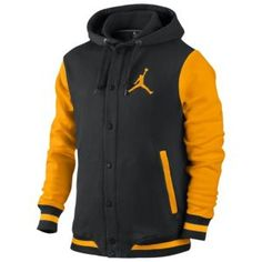 Jordan Varsity Hoodie - Men's - Basketball - Clothing - Black/University Gold