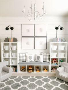 Gray and White Playroom
