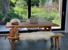 Meet the Fab Fleece Fans showing off their sheepskins / The Fabulous Fleece Company Great View, New Homes, Bench, Fans, Dining Table, Amazing, Garden, Kitchen, House