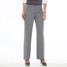 Apt. 9® Curvy Fit Trouser Pants - Women's