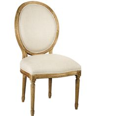 Fusing Classic European Design With Simple Rustic Charm A Natural Oak Finish Adds An Antique Touch To This Louis XVI Style Medallion Side Chair