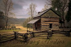 Cades Cove in the Smoky Mountains.  Carter, Ella, jake and I were just in this cabin a few days ago!