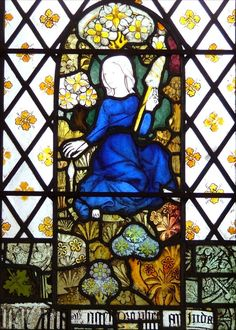 Eve spinning, St. Mary church, Martham, Norfolk, England (15th c.)