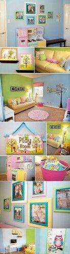A lil girls play room. Cute